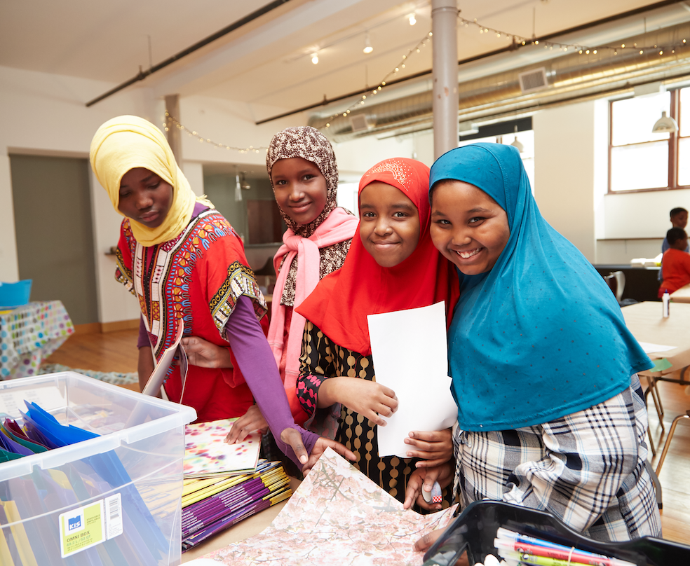 Picture of young girls participating at an Empowerment Squared event